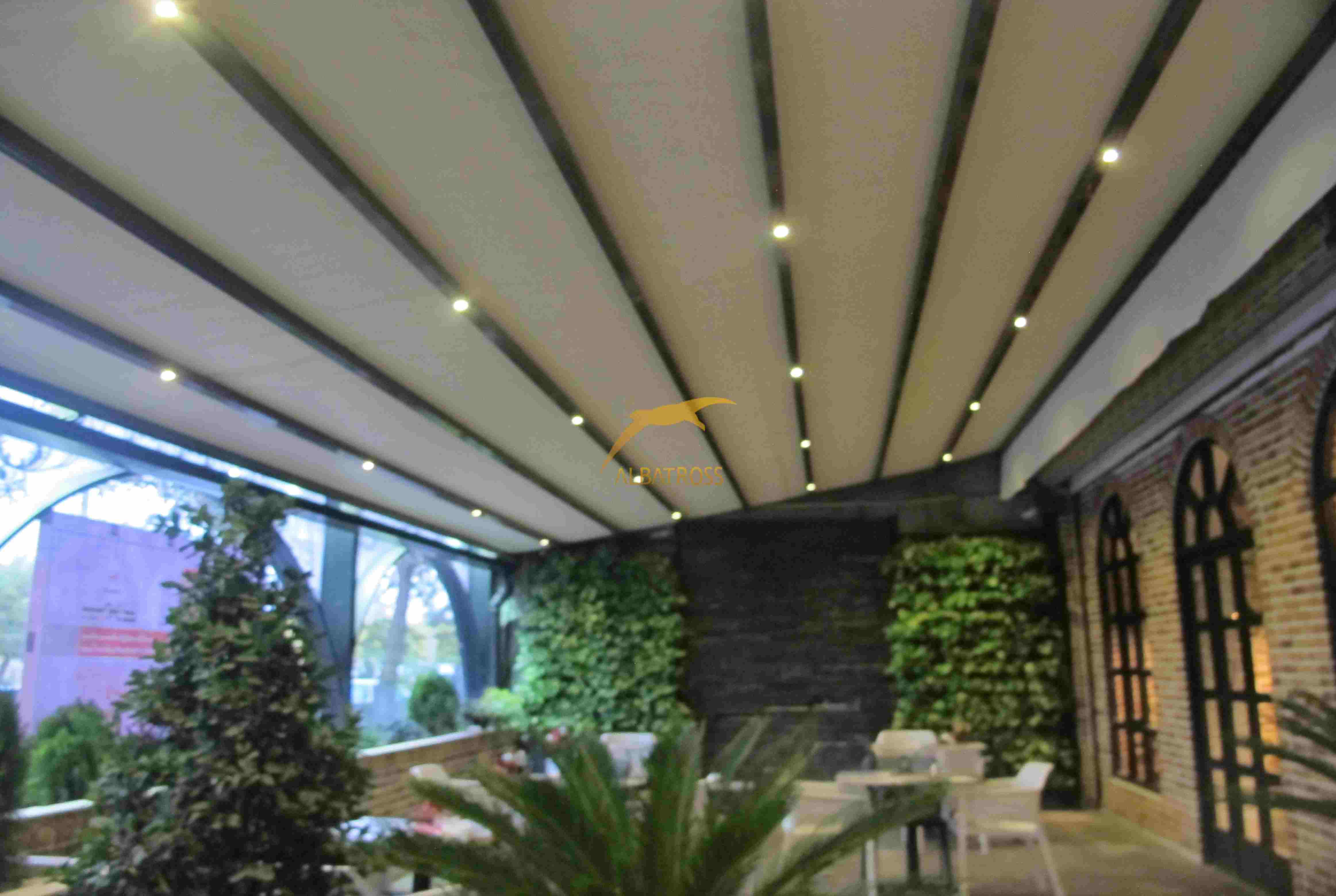 پروژه سقف متحرک کافه رستوران سیمفونی