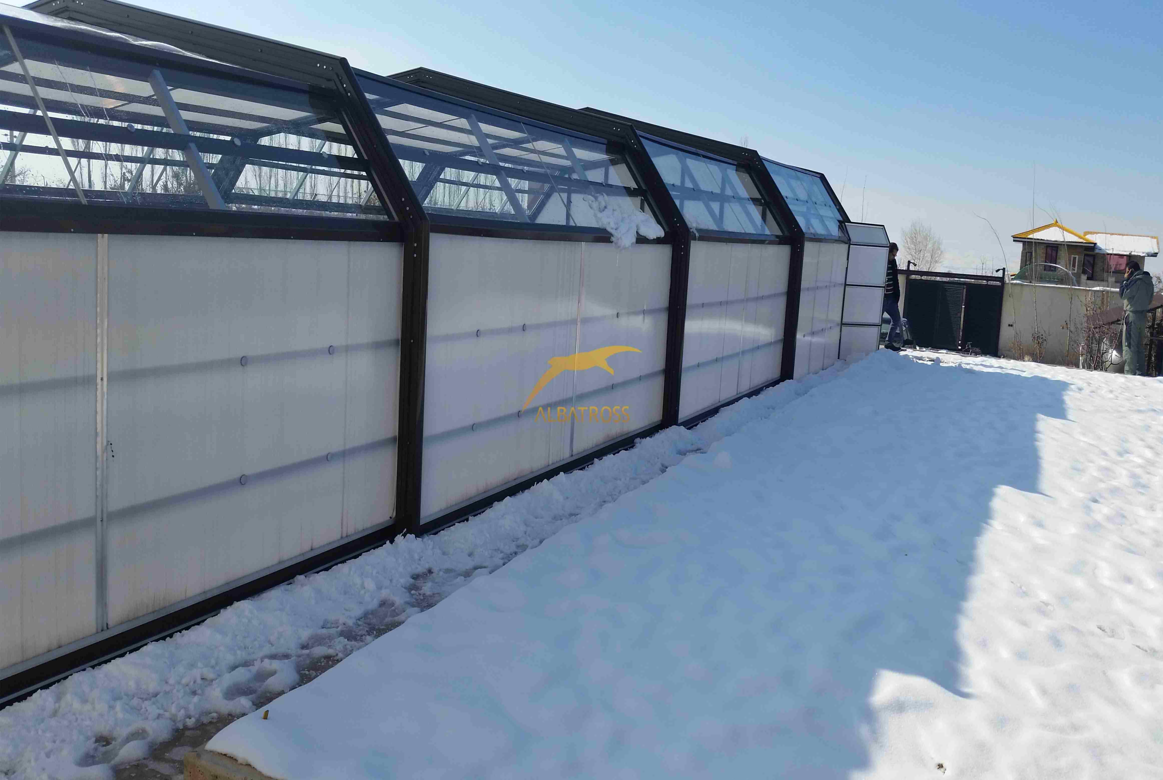 پروژه تلسکوپی پوشش استخر آبسرد دماوند