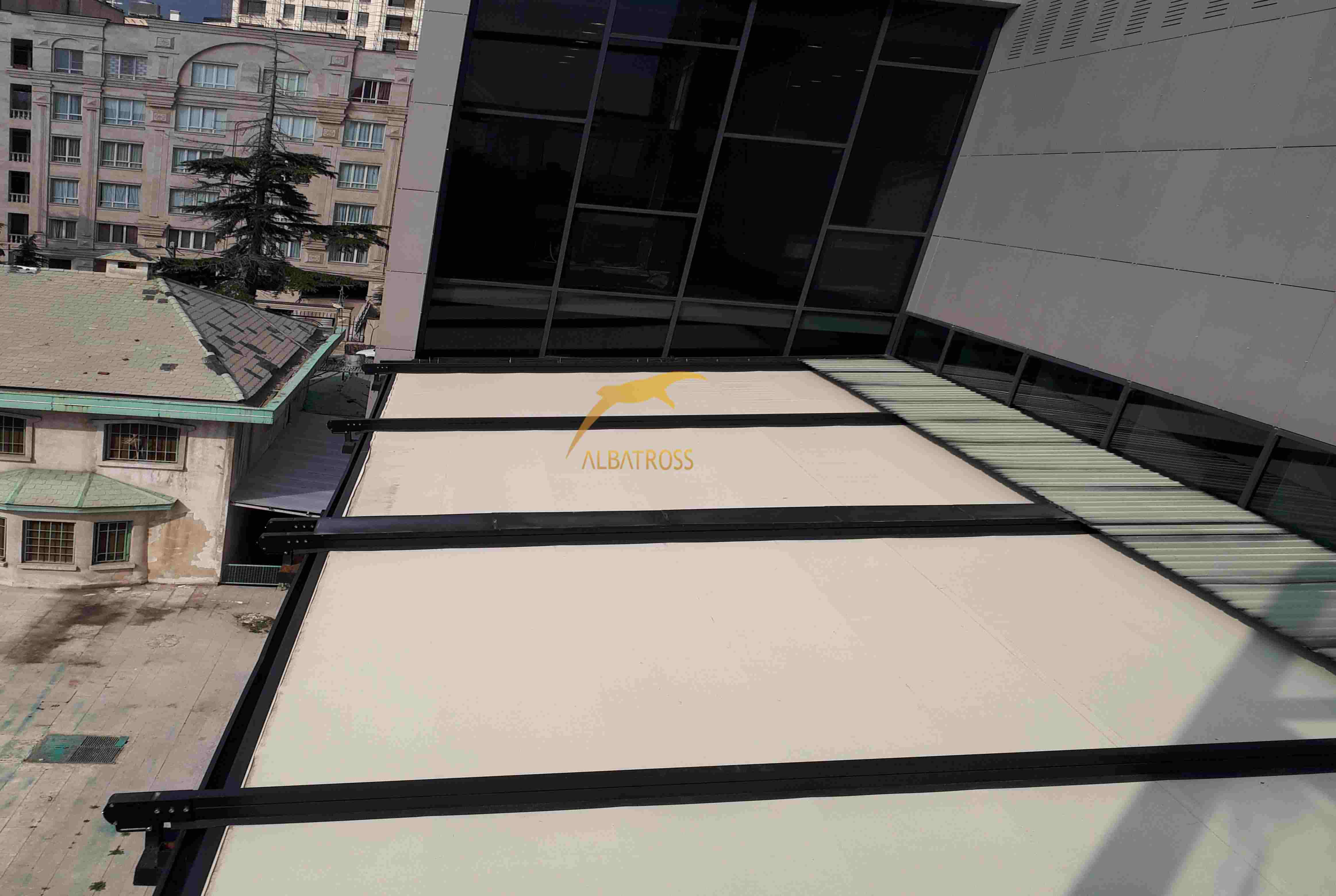 پروژه سقف متحرک کافه هل