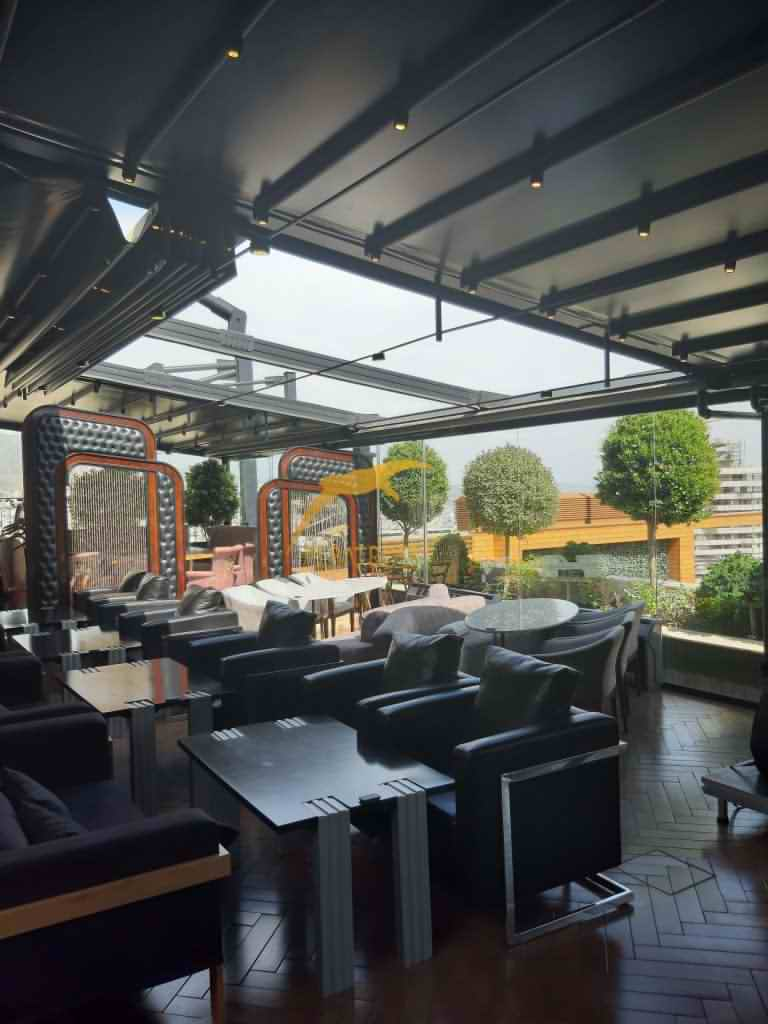 پروژه سقف متحرک رستوران روبل