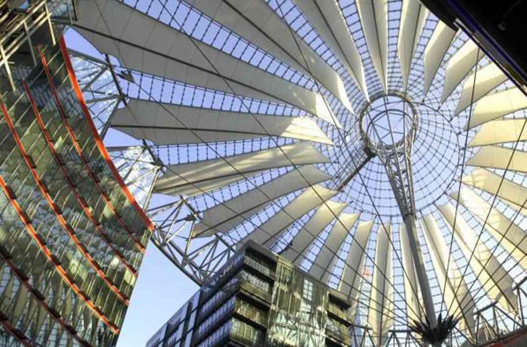 سقف سونی سنتر برلین
