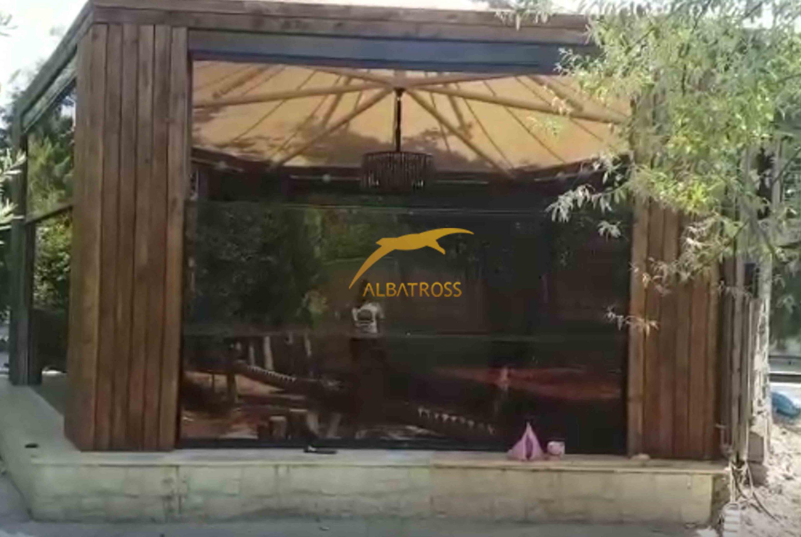 پروژه دیوار متحرک شیشه گیوتینی تالار