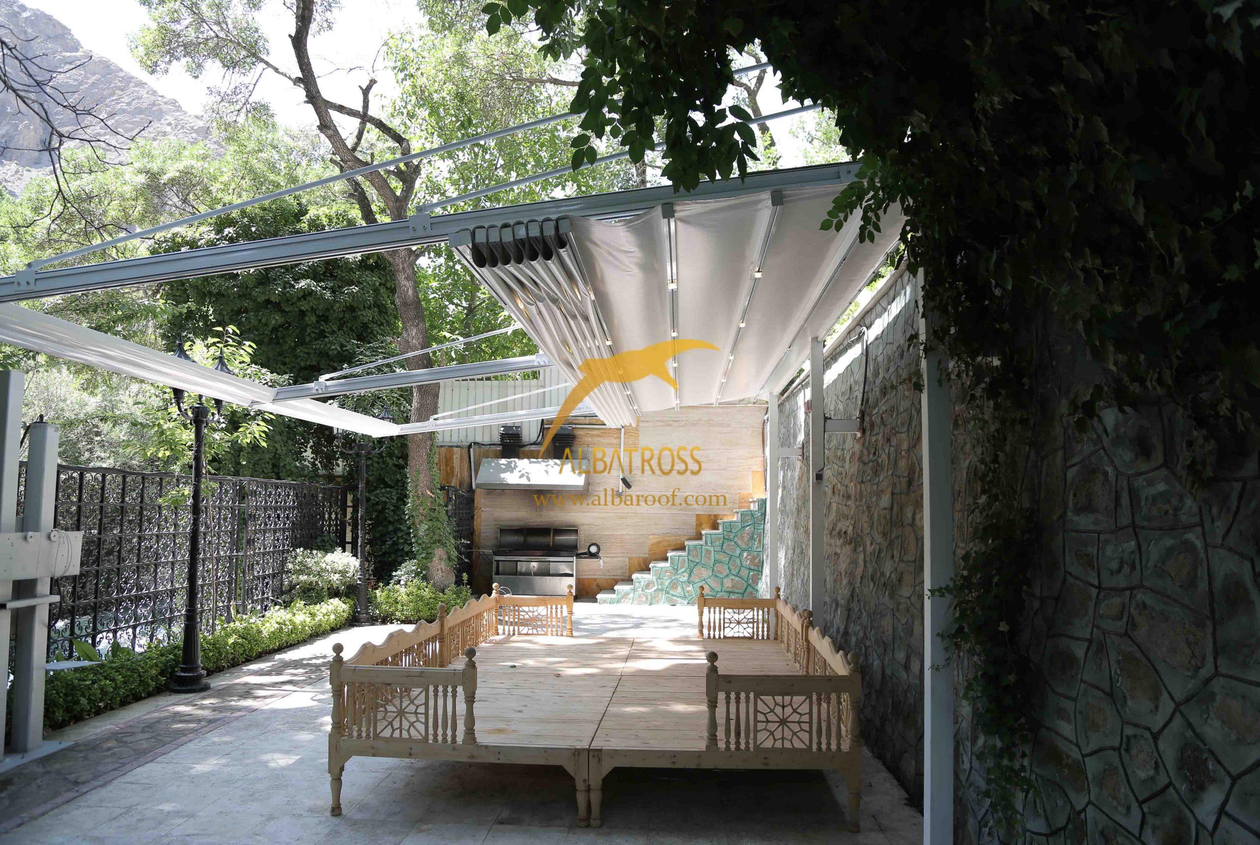 پروژه سقف متحرک پارچه ای در چالوس