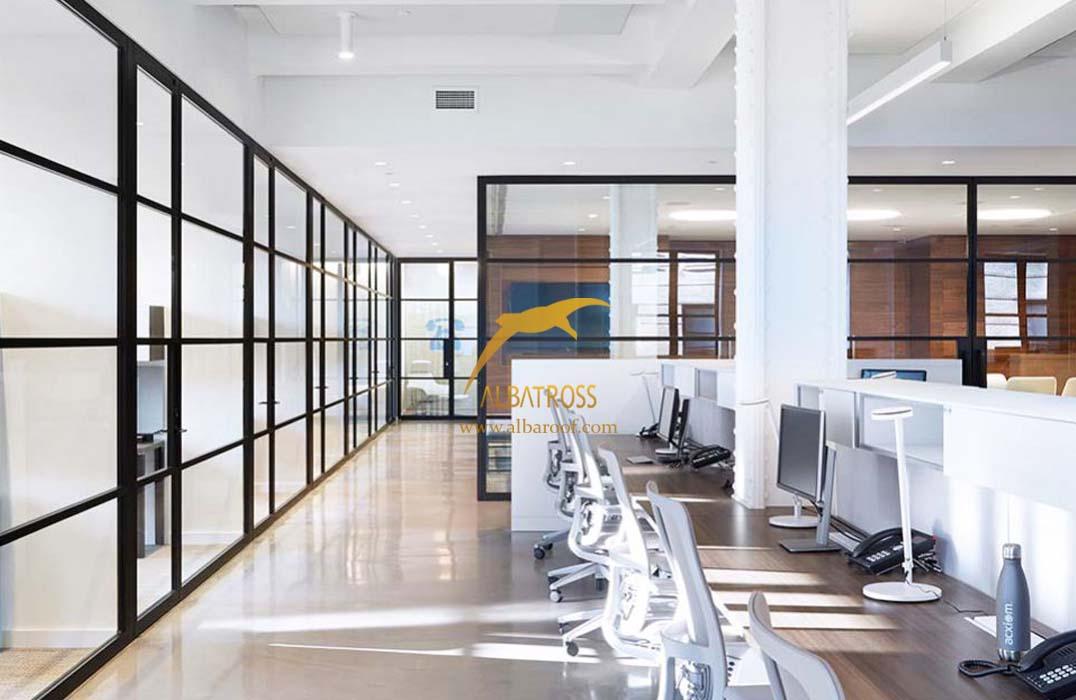 دیوارمتحرک شیشه ای ادارات