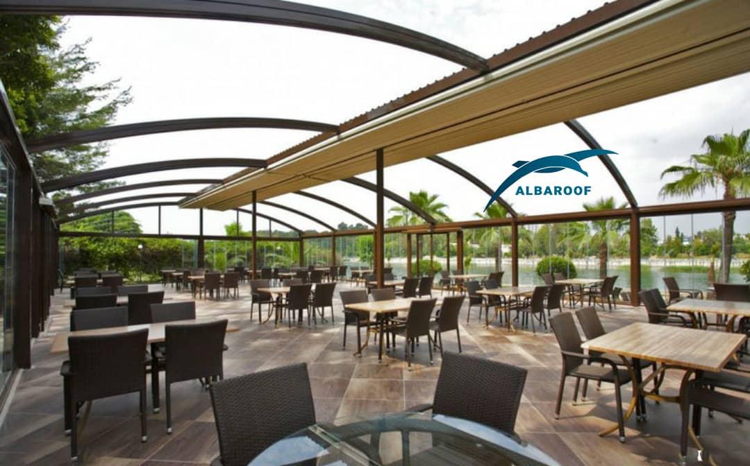سقف متحرک رستوران