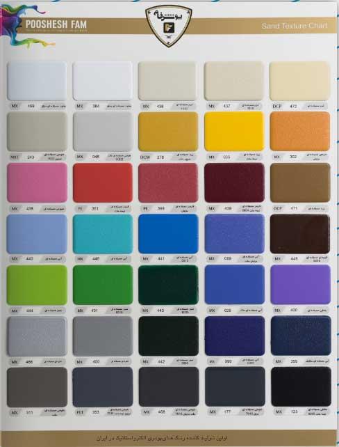 کاتالوگ رنگ کوره ای برای سقف متحرک