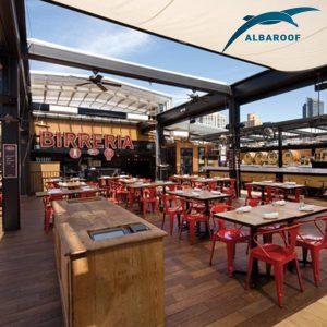 restaurant retractable roof-2