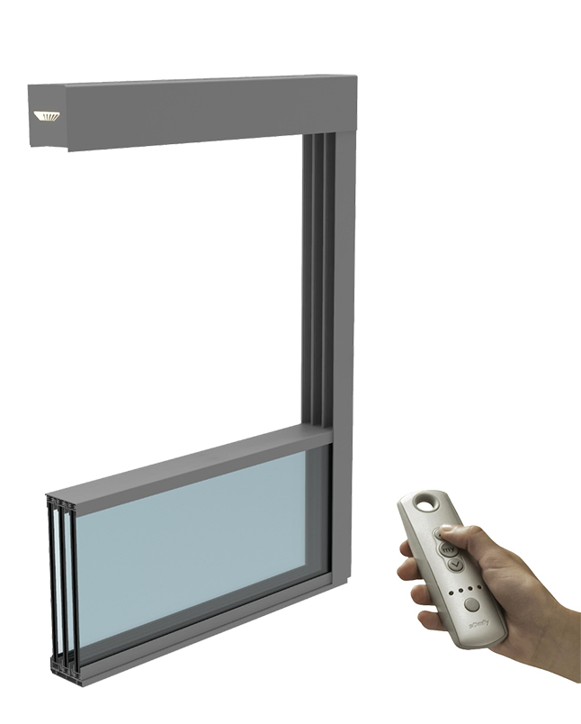 Guillotine movable glass-1