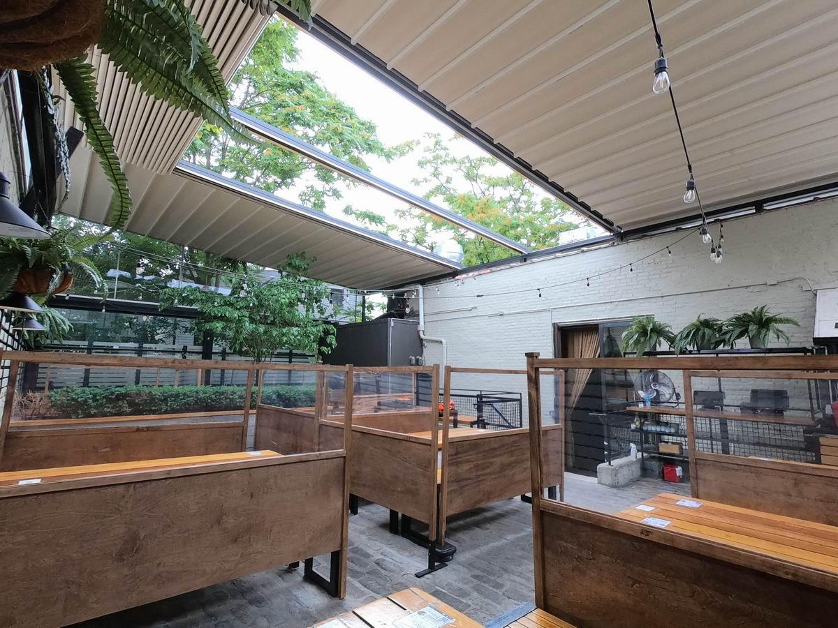 سقف متحرک برای پشت بام